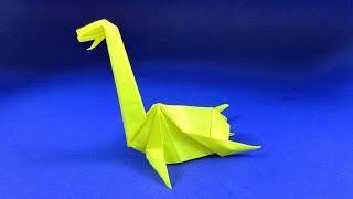 Як зробити динозавра з паперу. Орігамі Плезиозавр