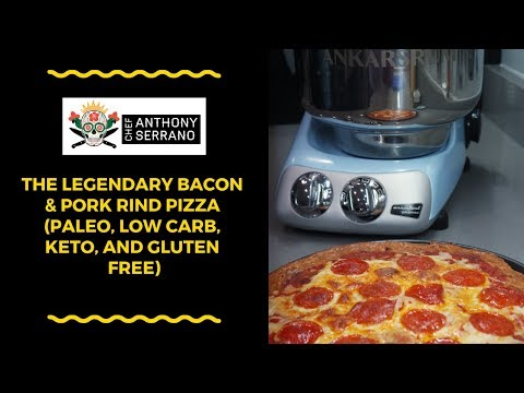 The Legendary Bacon & Pork Rind Pizza (Paleo, Low Carb, Keto, and Gluten Free)