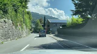 Switzerland - Driving in Switzerland: From Thun to Interlaken. Alps Views