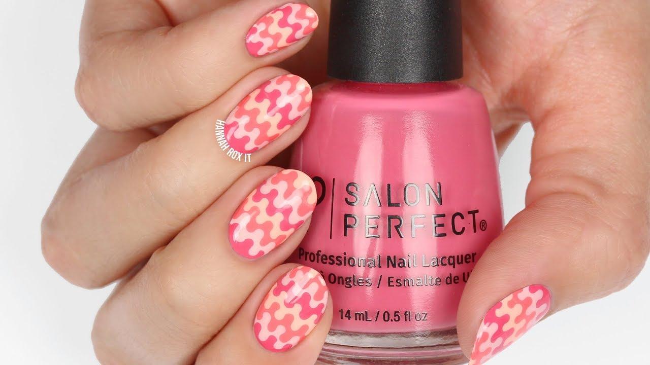 Retro Print Nails Salon Perfect Peaches Creme S Swatches