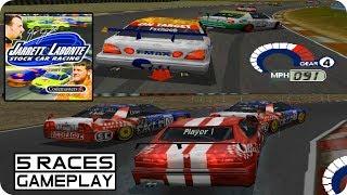 Jarrett & Labonte Stock Car Racing | 5 Races Gameplay Moments | PS1 2000