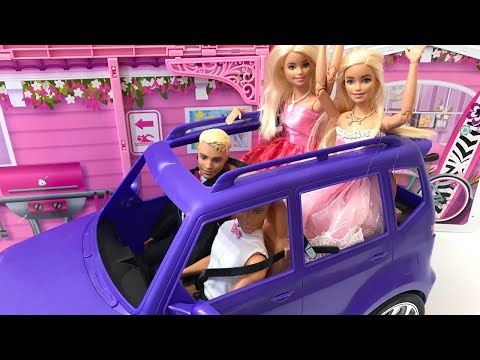 Barbie and Friends Go To a Party!!