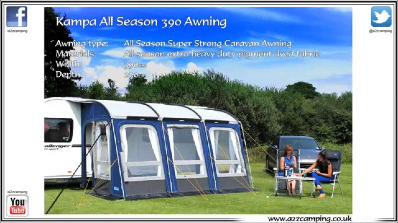 New Kampa Rally All Weather Awning 390 Season Caravan