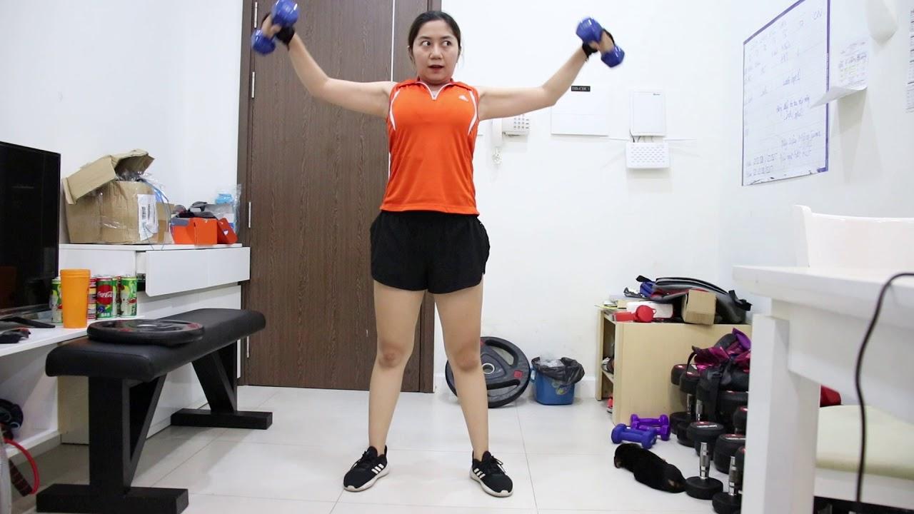 Phụ Nữ Rất Nên Tập Tạ Để Giảm Mỡ Tay Vai – Tập 8 Phút Thân Trên Cùng Linh – HLV Ryan Long Fitness