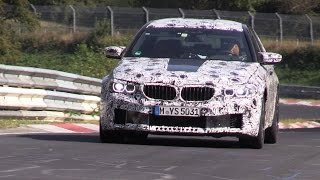 2018 bmw m5 f90 testing again on the nurburgring