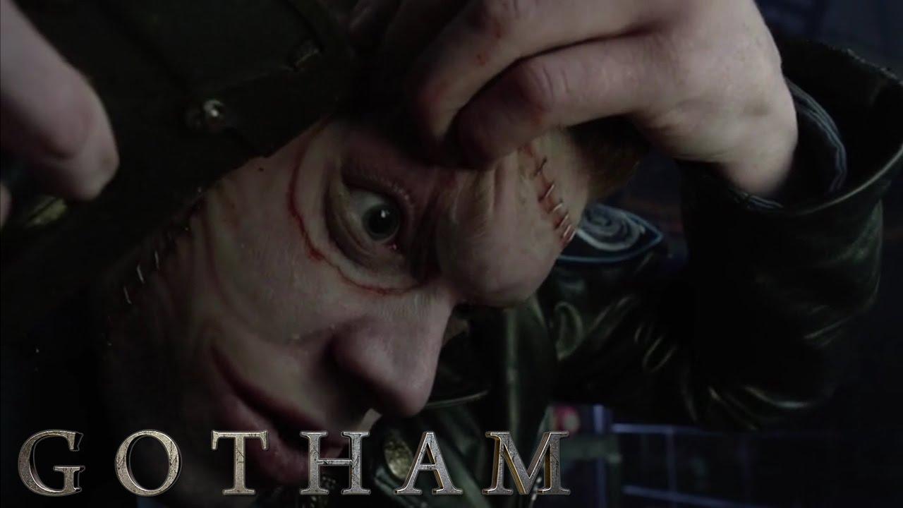 Gotham Jerome Valeska Joker Staples His Face Back On