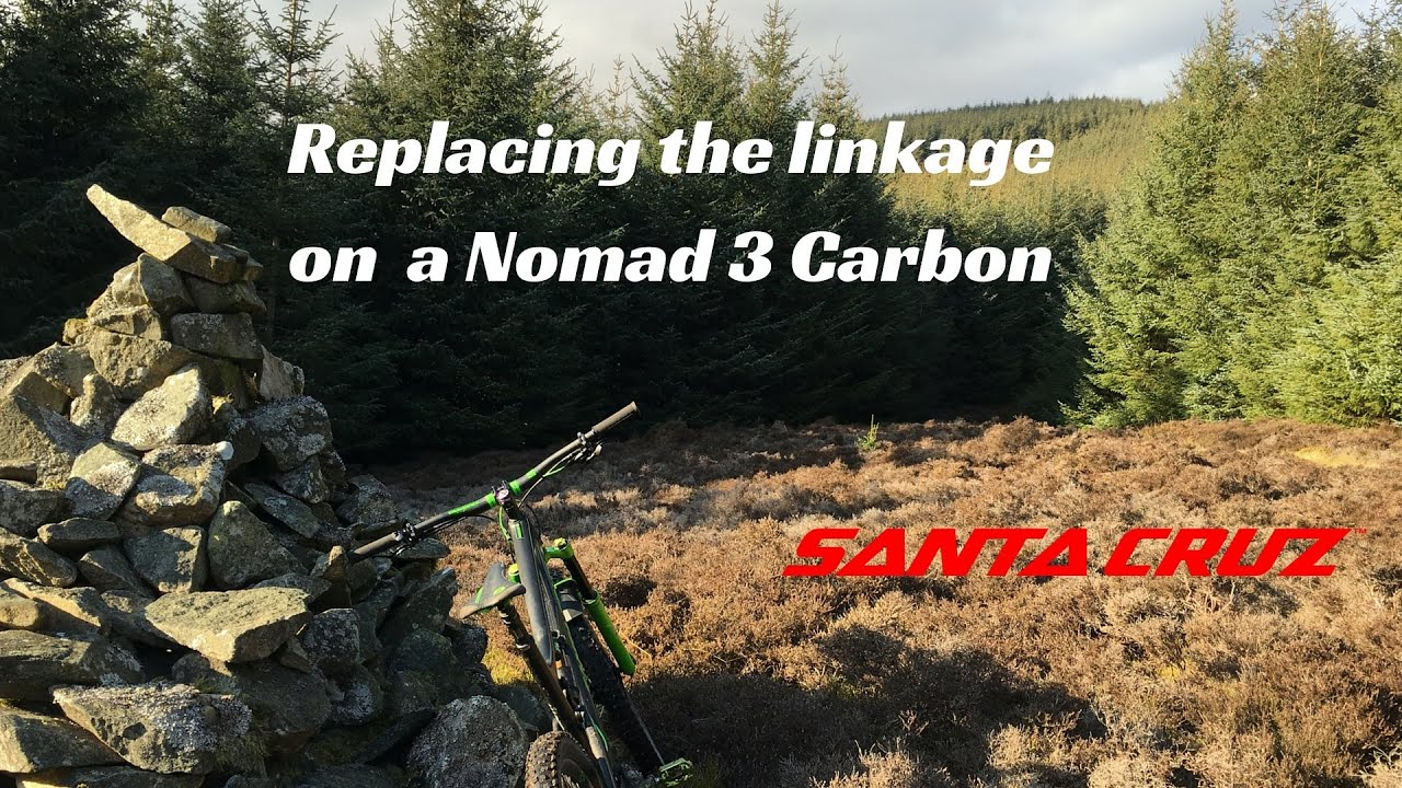 Replacing the linkage on a Santa Cruz Nomad 3 Carbon - YouTube