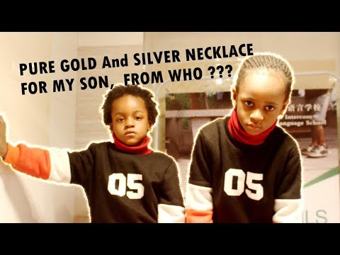 PURE GOLD AND SILVER NECKLACE FOR MY SON, FROM WHO ???