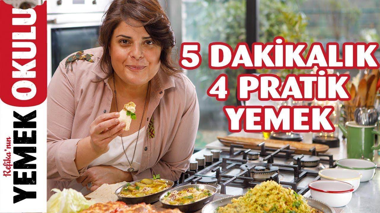 5 Dakikada Hazırlanan 4 Pratik Yemek Tarifi | Nohut ve Fasulyeyle Burritodan Zeytinyağlıya Kadar
