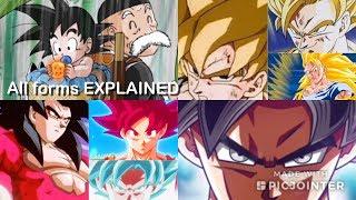 TODO Super Saiyajin formas/transformaciones/evolución de Goku edades y línea de tiempo (DB DBZ DBS DBGT) 2018