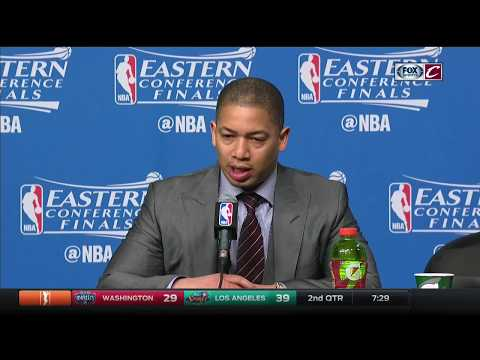 Tyronn Lue postgame after Cavs blow out Celtics in Boston | NBA Playoffs