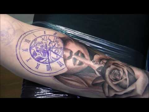 Silence times - Tattoo (time lapse and real time)