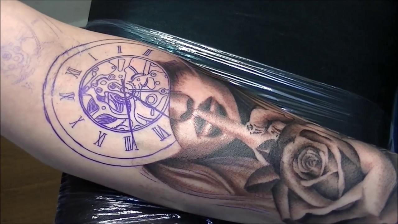 e17caa85d1ce8 Silence times - Tattoo (time lapse and real time) - YouTube