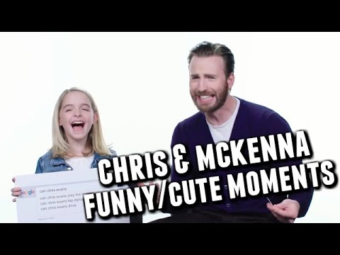 Chris Evans and Mckenna Grace FunnyCute Moments