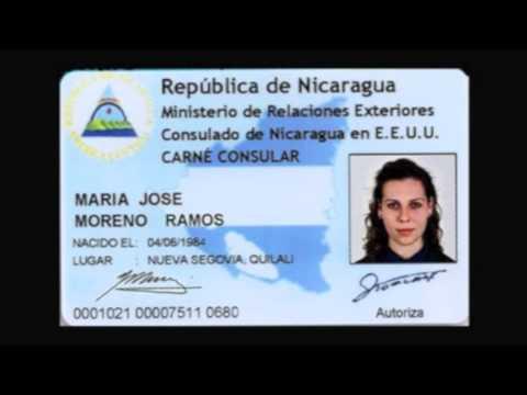 CARNÉ CONSULAR NICARAGUENSE - CONSULADO DE NICARAGUA  EN LOS ANGELES