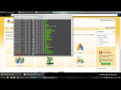 Tutorial Instalar Moodle 2.5 en Linux Mint 15 en LAN con XAMPP - Servidor educativo