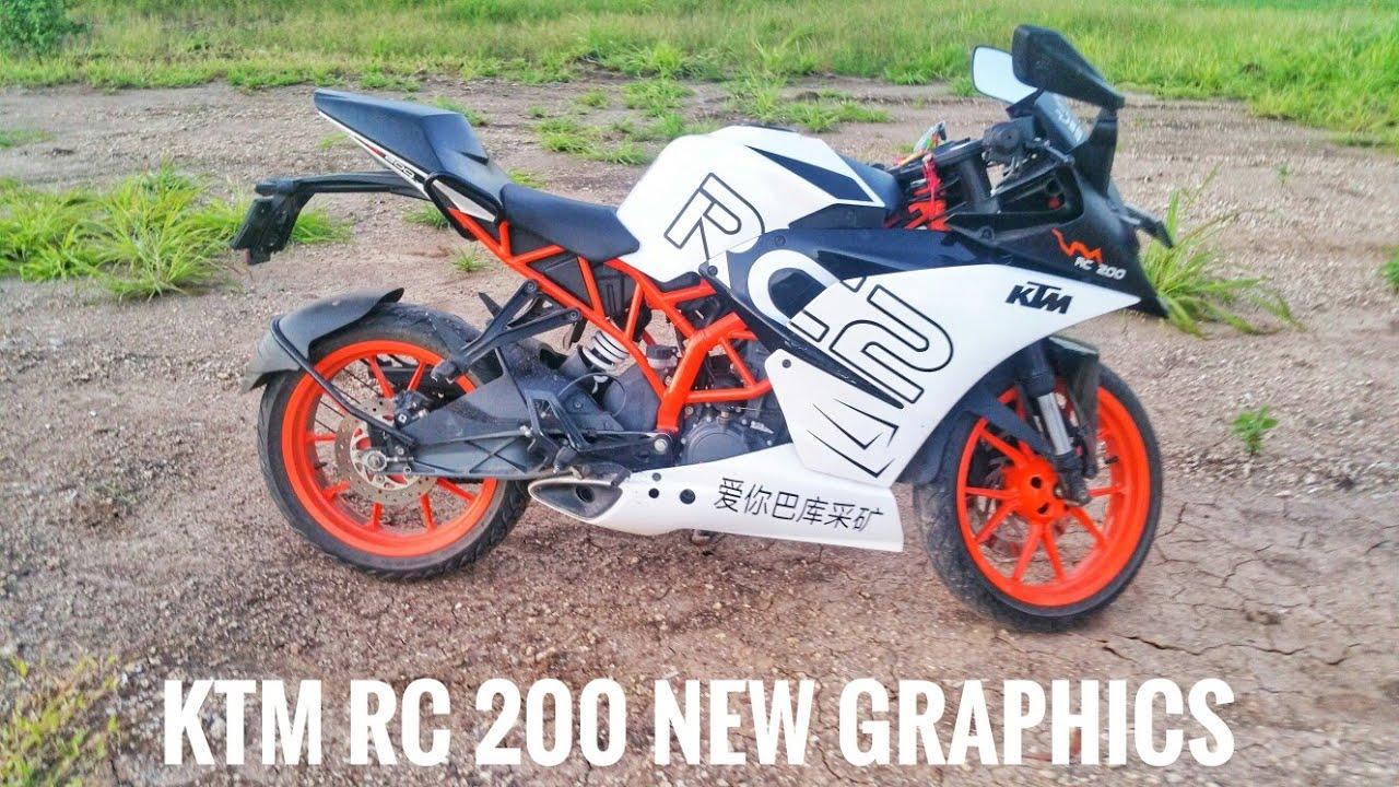 Ktm rc 200 custom stickers ktm rc 200 new lookktm rc200 india