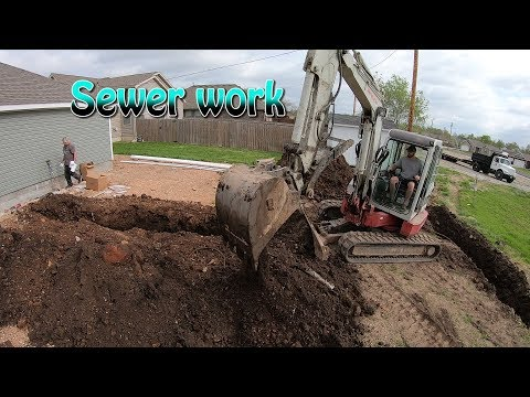 Installing A Sewer Service Line