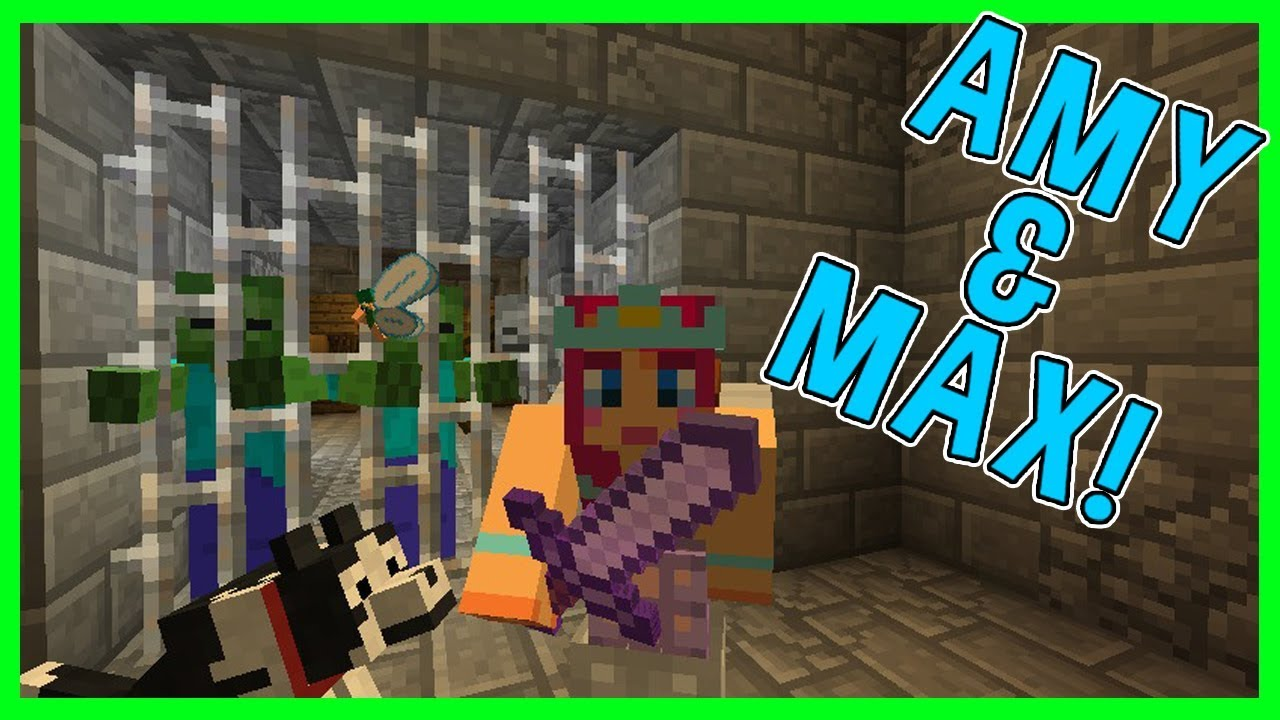 Amy Amp Max Ep14 THE TOWER OF TERROR Minecraft Amy