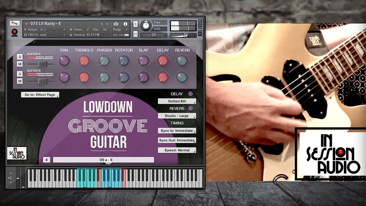 Lowdown Groove Guitar - In Session Audio