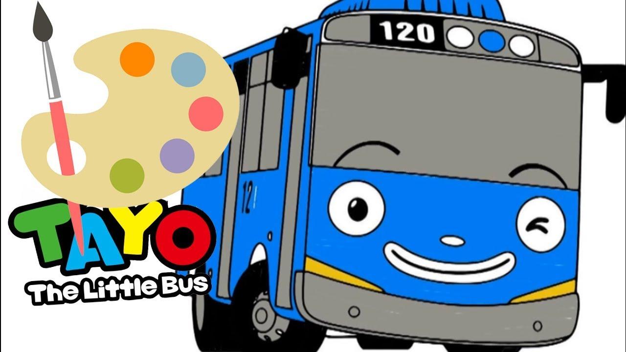 Menggambar Dan Mewarnai Mobil Tayo 🏁 Tayo The Little Bus