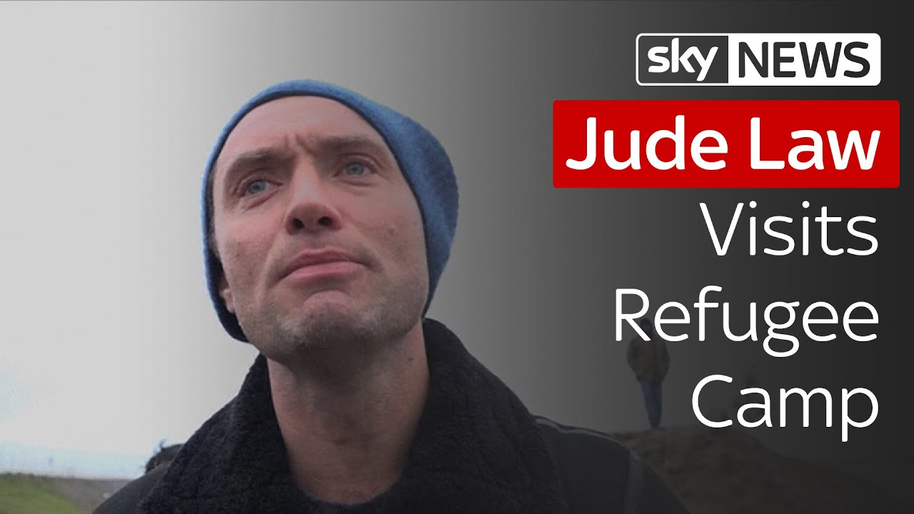 Jude Law Visits A Calais Refugee Camp To Make An Important Appeal