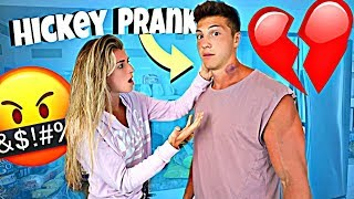 Hickey Prank On Girlfriend.. *SHE LEAVES ME*