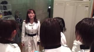 NMB48teamN 4th目撃者公演後の楽屋 山本彩.