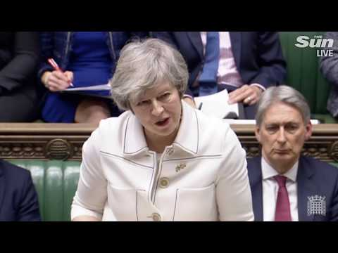 Theresa May speaks in Parliament day before Brexit deal vote