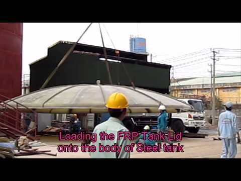 Fabricate and FRP lining for tank 1500 m3 at Chemical Factory _ Bien Hoa (Chemical tank_Lilama)
