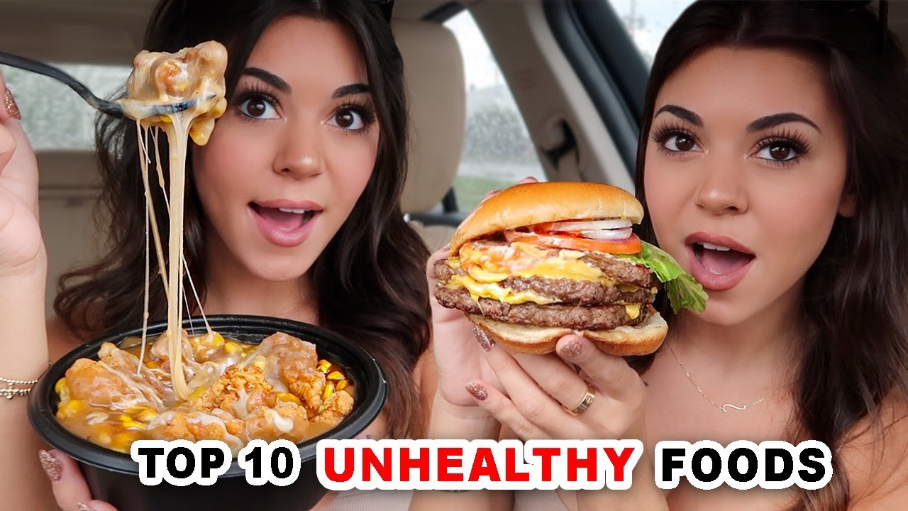 Eating the TOP 10 Most Unhealthy Fast Foods in America!