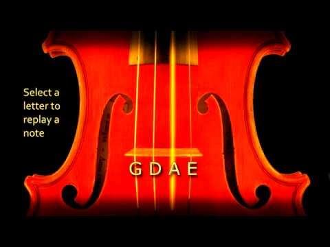 Violin Tuner plucking real violin sound