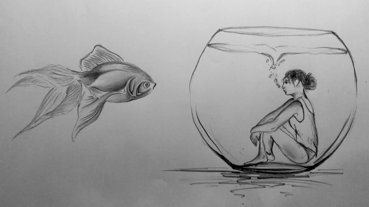 Emotional abuse isolation sketch illustration