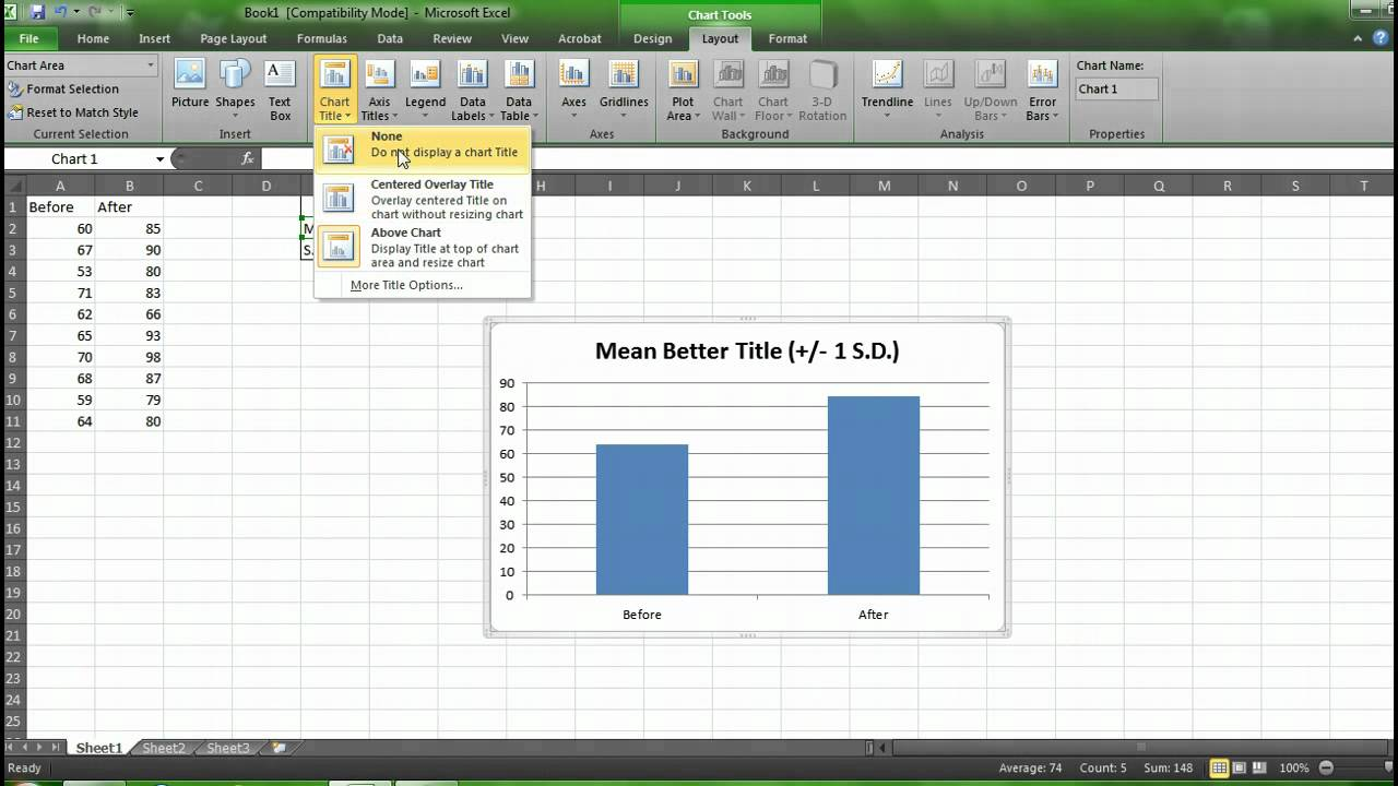 Graphing means and standard deviations with excel also youtube rh
