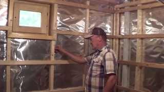 видео Технология утепления бани изнутри своими руками
