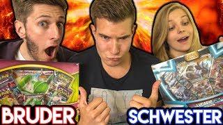 Bruder VS Schwester Duell 🤬POKÉMON Booster Opening