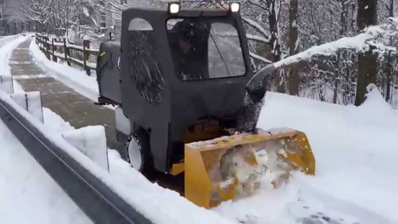 Terracare Inc Snow Plowing With Walker Mower Snow Blower