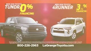 No Payments For 90 Days on Toyota Tundra or Toyota 4Runner Only At LaGrange Toyota
