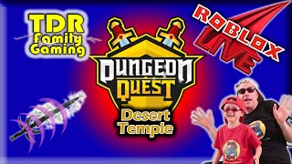 Roblox Dungeon Quest: Desert Temple to Winter Outpost - live stream