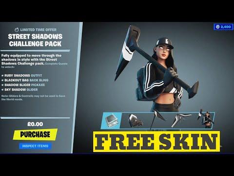 Download FREE Shadow Ruby Skin in Fortnite Item Shop Full Showcase