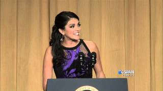 From C-SPAN coverage, Cecily Strong remarks at the 2014 White House Correspondents' Dinner. Watch the complete video here: http://cs.pn/1JFZuMo.