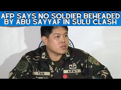 AFP Says No soldier Beheaded By Abu Sayyaf in Sulu Clash