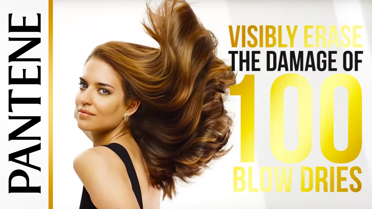 Erase the damage of 100 blow dries with pantene repair amp protect