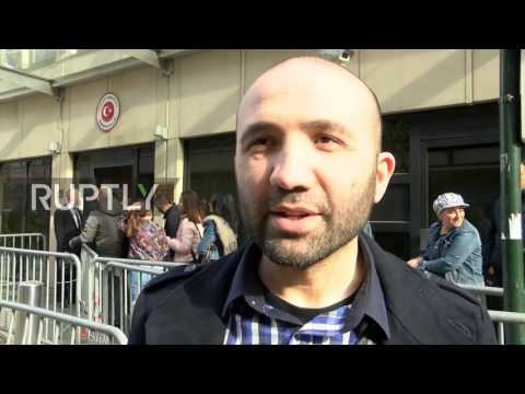 Belgium: Tensions remain high as Turkish citizens vote in Brussels