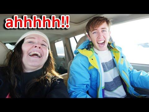 ขับรถดริฟกลางหิมะ คุณแม่หัวใจแทบวาย!!
