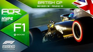 F1 2019 | AOR Hype Energy F1 League | XB1 | S18 | R10: British GP