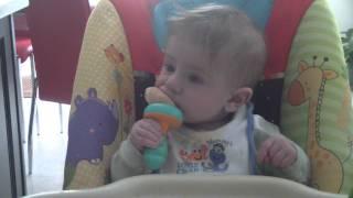 baby loves his nuby nibbler