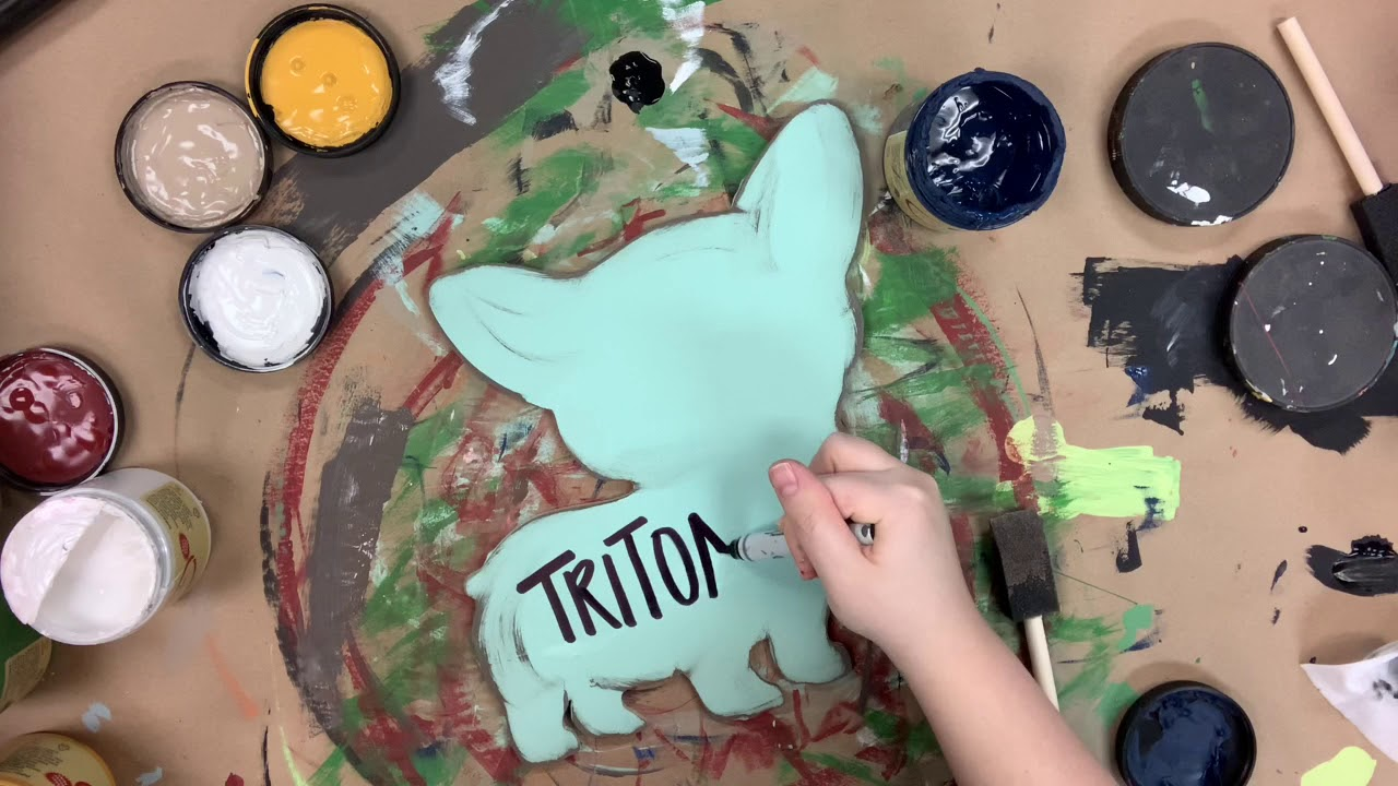 Corgi Dog Craft Shape Painting Step by Step Video Tutorial
