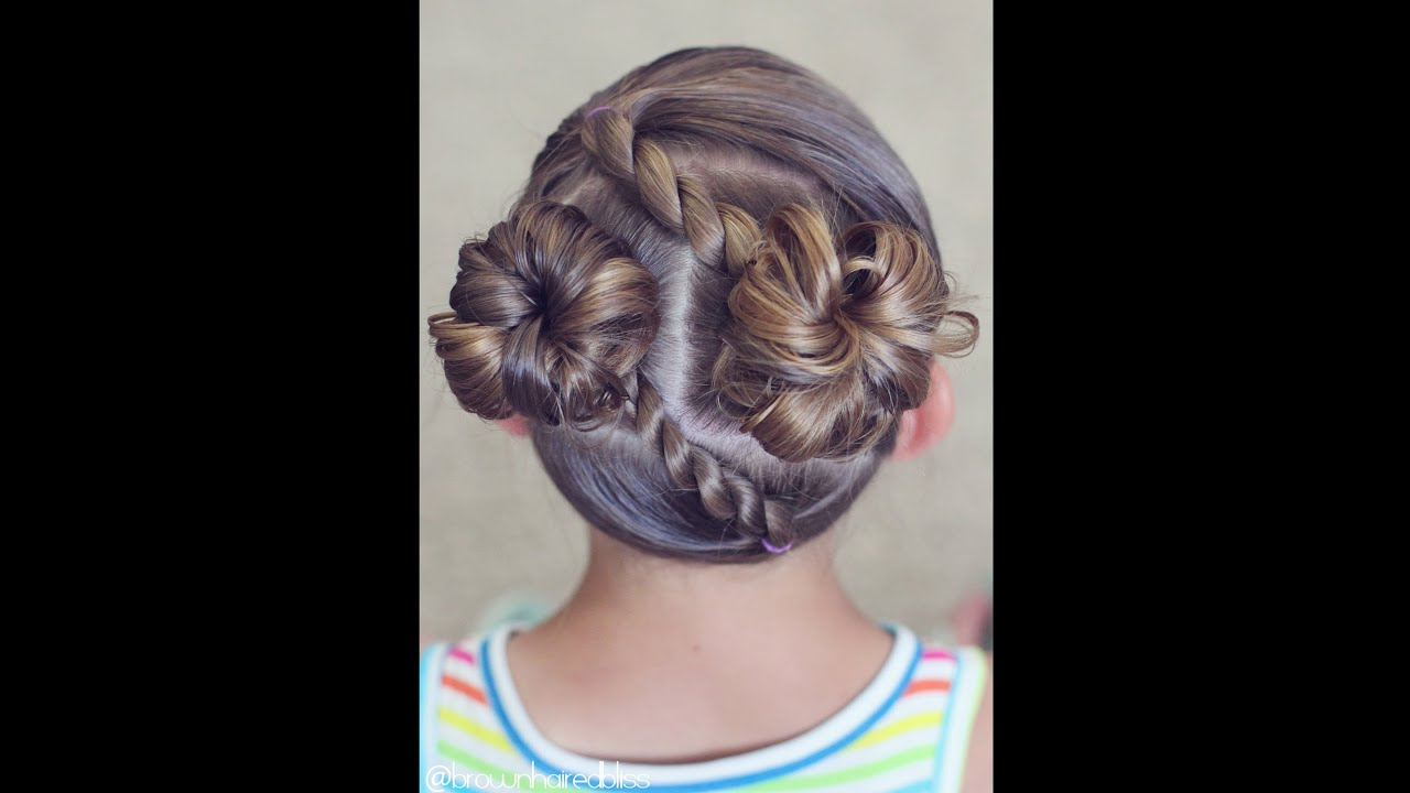 Diagonal Rope Twists Into Messy Buns Brown Haired Bliss