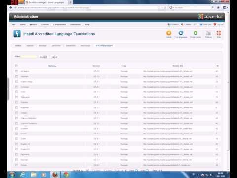 05 Как установить русский язык в Joomla 2.5